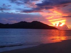 sunsets from coconut beach resort fiji